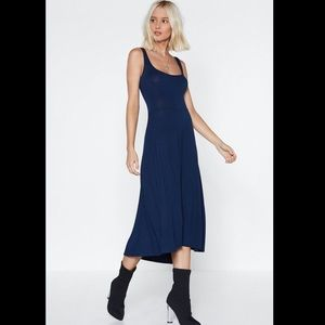 "NASTY GAL Navy ""It Don't Mean a Thing"" Midi Dress"